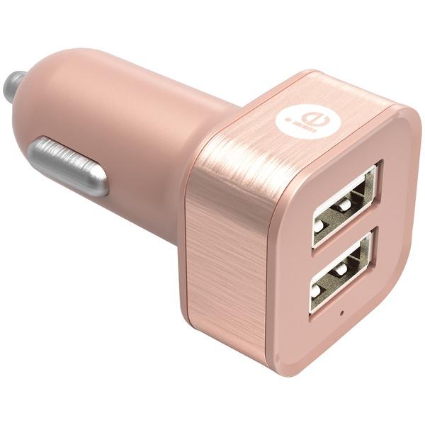 2.4A 2 USB CAR CHRGR GLD