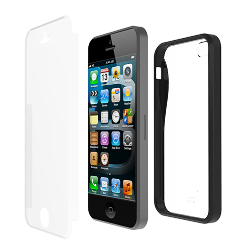 ILUV ICA7H328BLK BLACK IPHONE5 CASE TWAIN I TWO PART DUAL