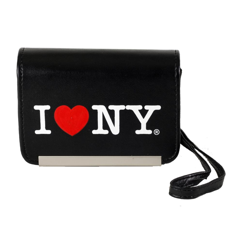 I Love NY DCS86 Compact Leather Digital Camera Case - Black