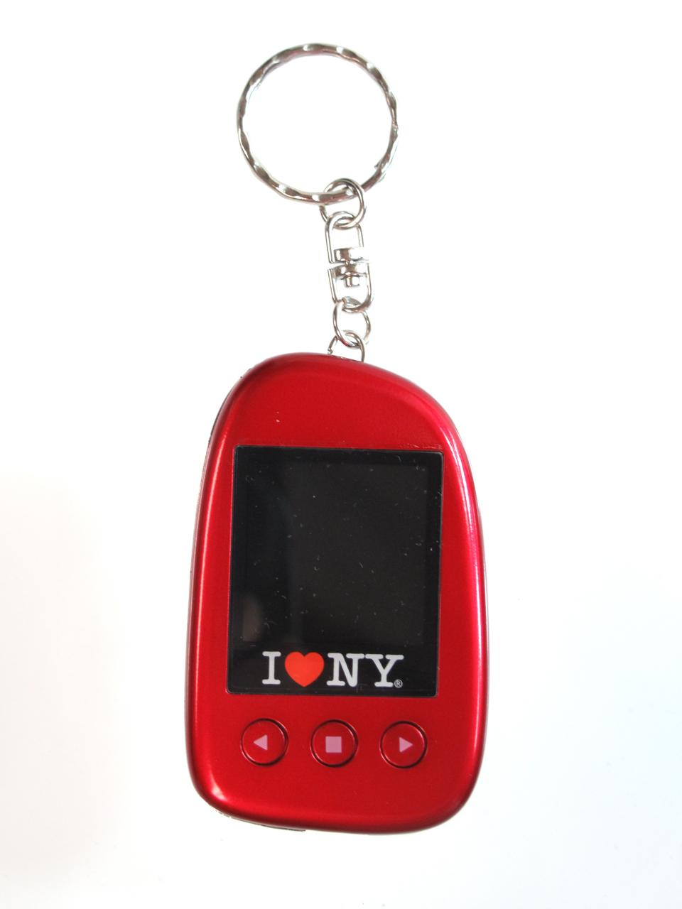 "I Love NY DPV151 1.5"" Digital Photo Keychain Hold up to 107 Photos - Red"
