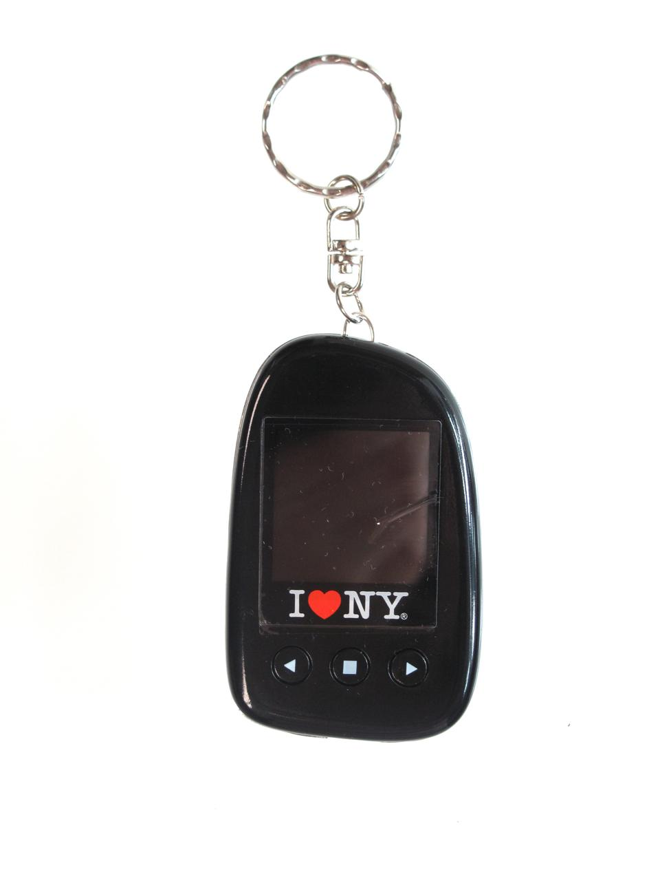 "I Love NY DPV151 1.5"" Digital Photo Keychain Hold up to 107 Photos - Black"