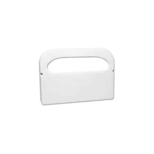 Plastic 1/2 Fold Toilet Seat Cover Dispenser, 16.05 x 3.15 x 11.3, White