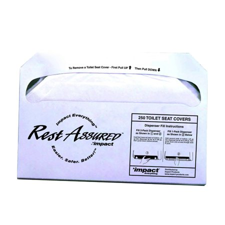 Rest Assured Seat Covers, 250/Pack, 20 Packs/Carton