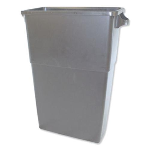 Thin Bin Containers, Rectangular, Polyethylene, 23 gal, Gray