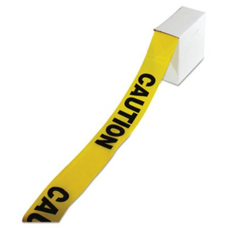 "Site Safety Barrier Tape, ""Caution"" Text, 3"" x 1000ft, Yellow/Black"