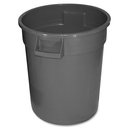 Gator Waste Container, Round, Plastic, 20 gal, Gray
