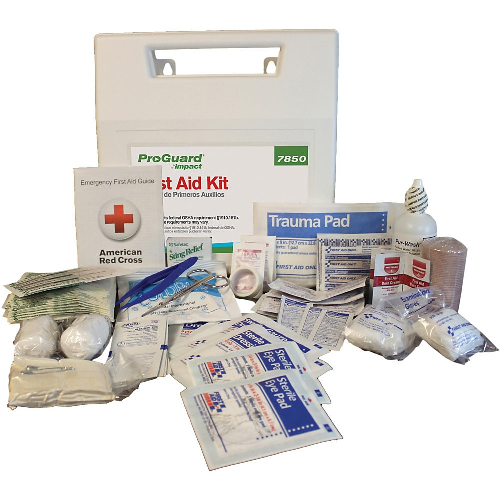 First Aid Kit for 50 People, 194-Pieces, Plastic Case