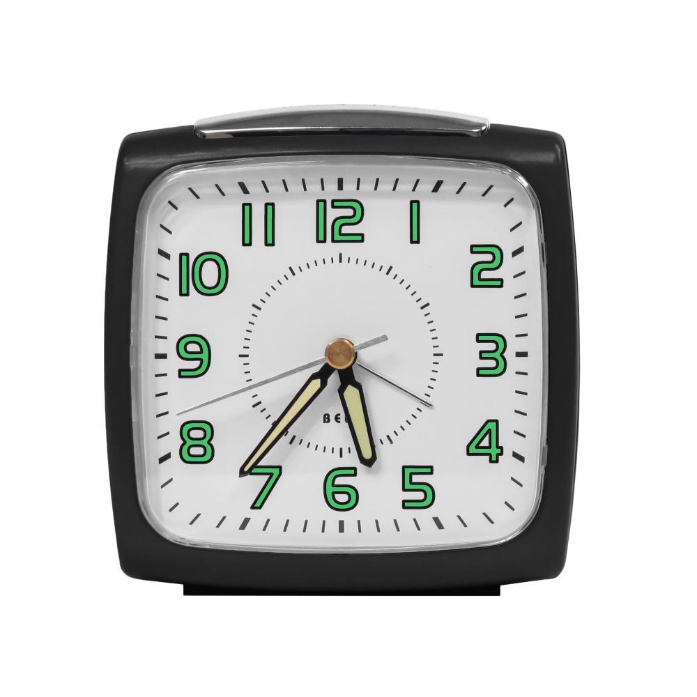 IMPECCA Bell Alarm Clock, Metallic Black