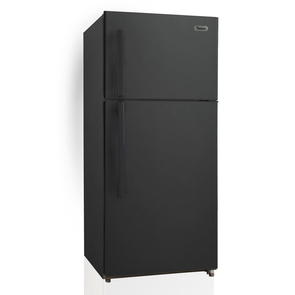 IMPECCA 18 Cu. Ft. Apartment Refrigerator with Top Mount Freezer, Black