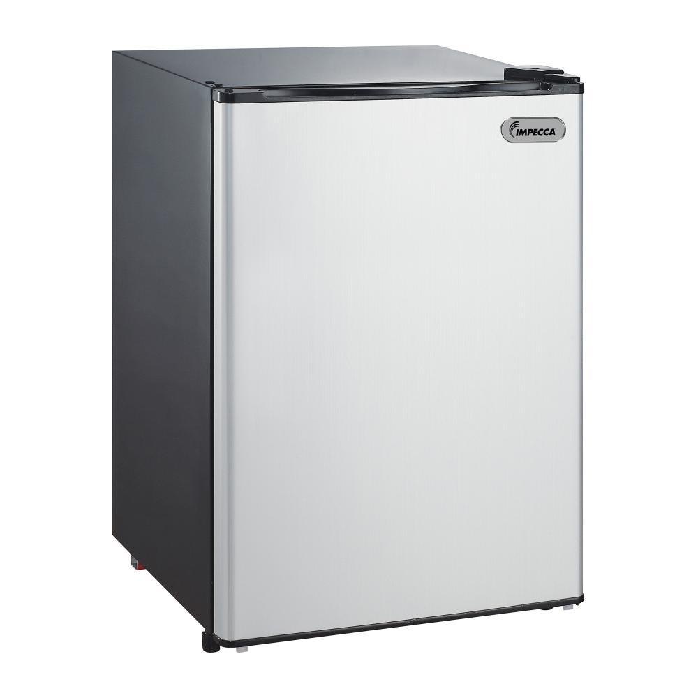 IMPECCA 2.6 CU. FT. Compact Refrigerator, Titanium