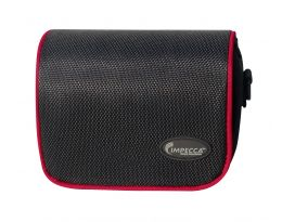 IMPECCA DCS100 Digital Camera Case for G-series, Black with Red Trim
