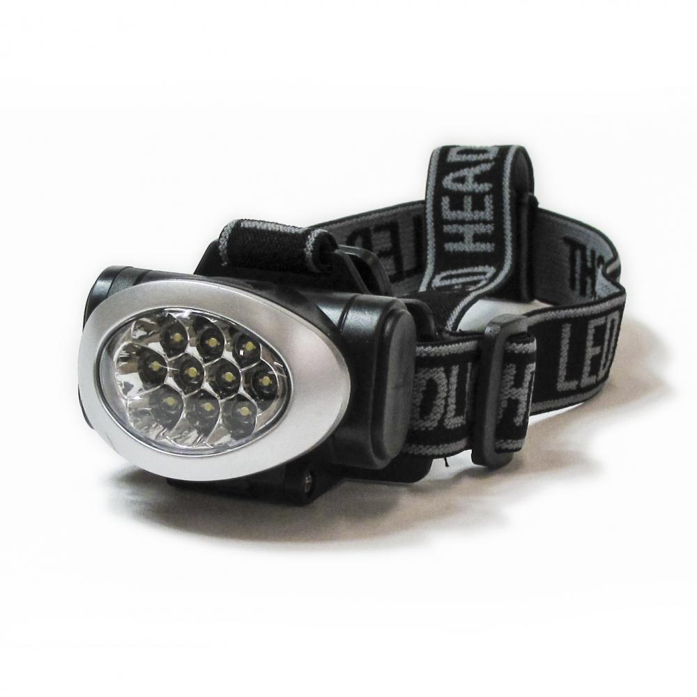 IMPECCA Hi-Lite 10-Bulb LED Headlamp, Black/Silver