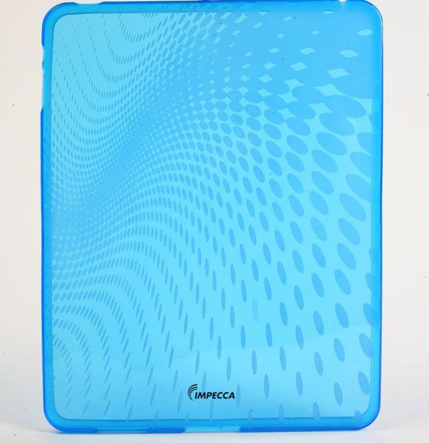 IMPECCA IPS120 Wave Pattern Flexible TPU Protective Skin for iPadGS= - Blue