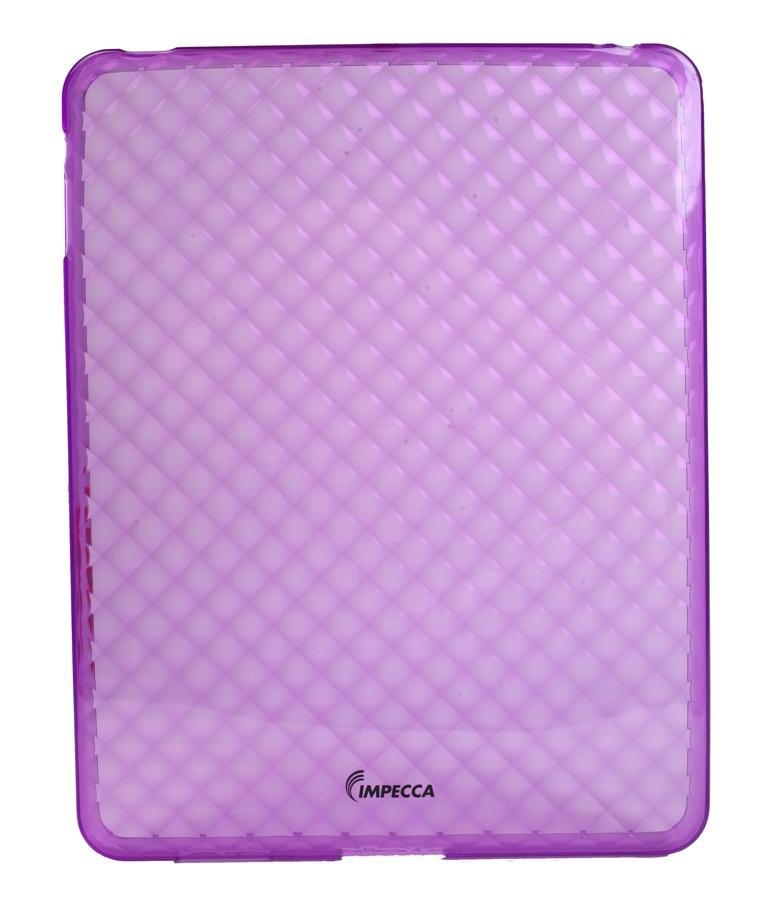 IMPECCA IPS121 Diamond Bubble Flexible TPU Protective Skin for iPadGS= - Purple