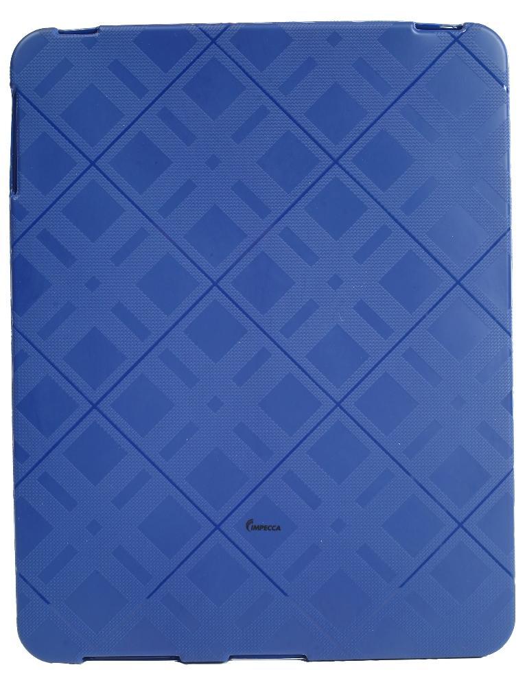 IMPECCA IPS122 Plaid Flexible TPU Protective Skin for iPadGS= - Blue