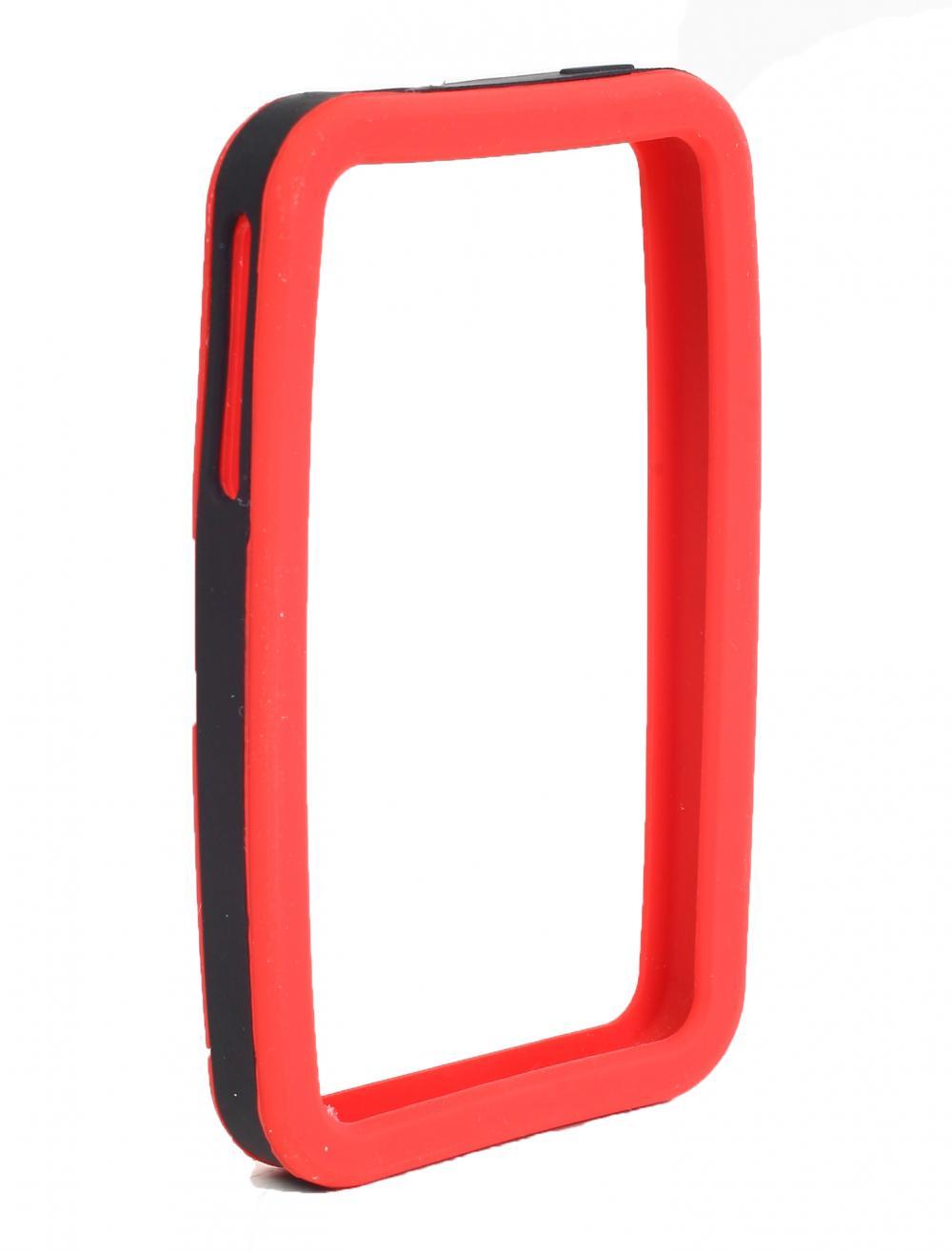 IMPECCA IPS226 Secure Grip Rubber Bumper Frame for iPhone 4GS= <em>Dual Color</em> - Red/Black