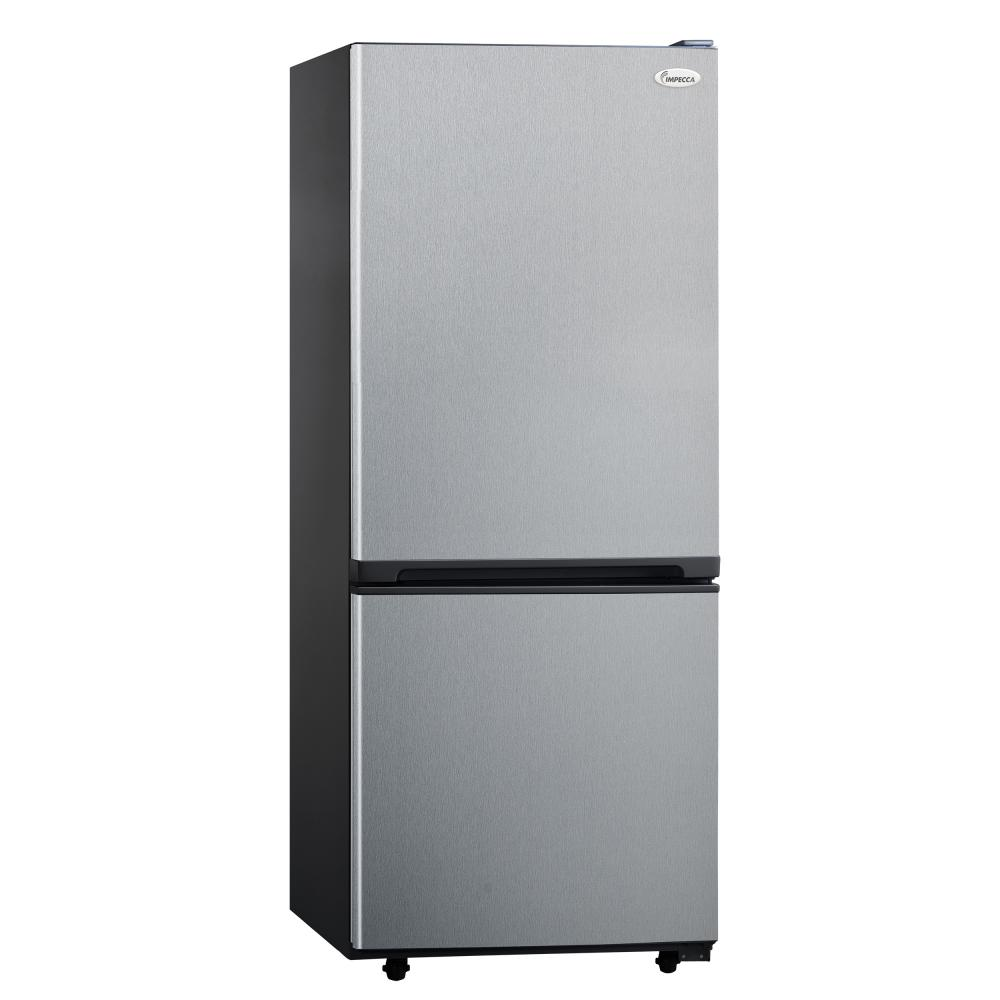 IMPECCA 10.2 Cu.Ft. Refrigerator with Bottom Mount Freezer - Stainless Steel Front
