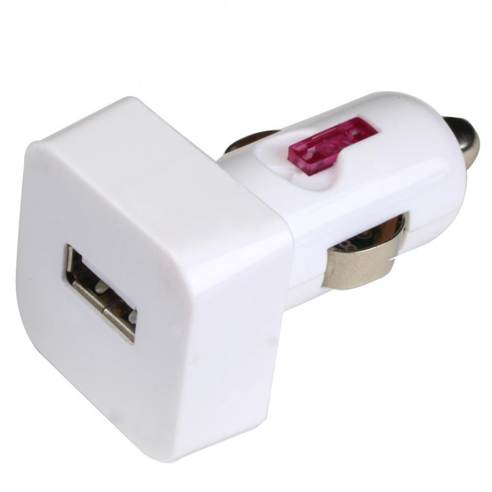 IMPECCA USB101 10-Watt USB Car Adapter - White