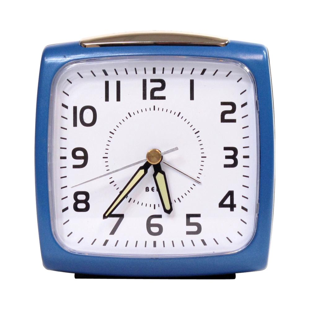 IMPECCA Bell Alarm Clock, Metallic Blue