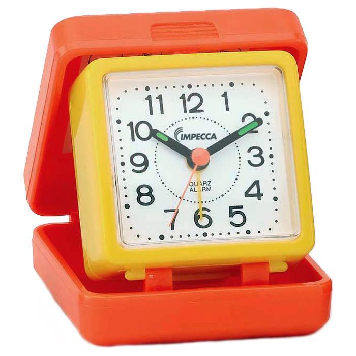 IMPECCA Travel Beep Alarm Clock, Orange/Yellow