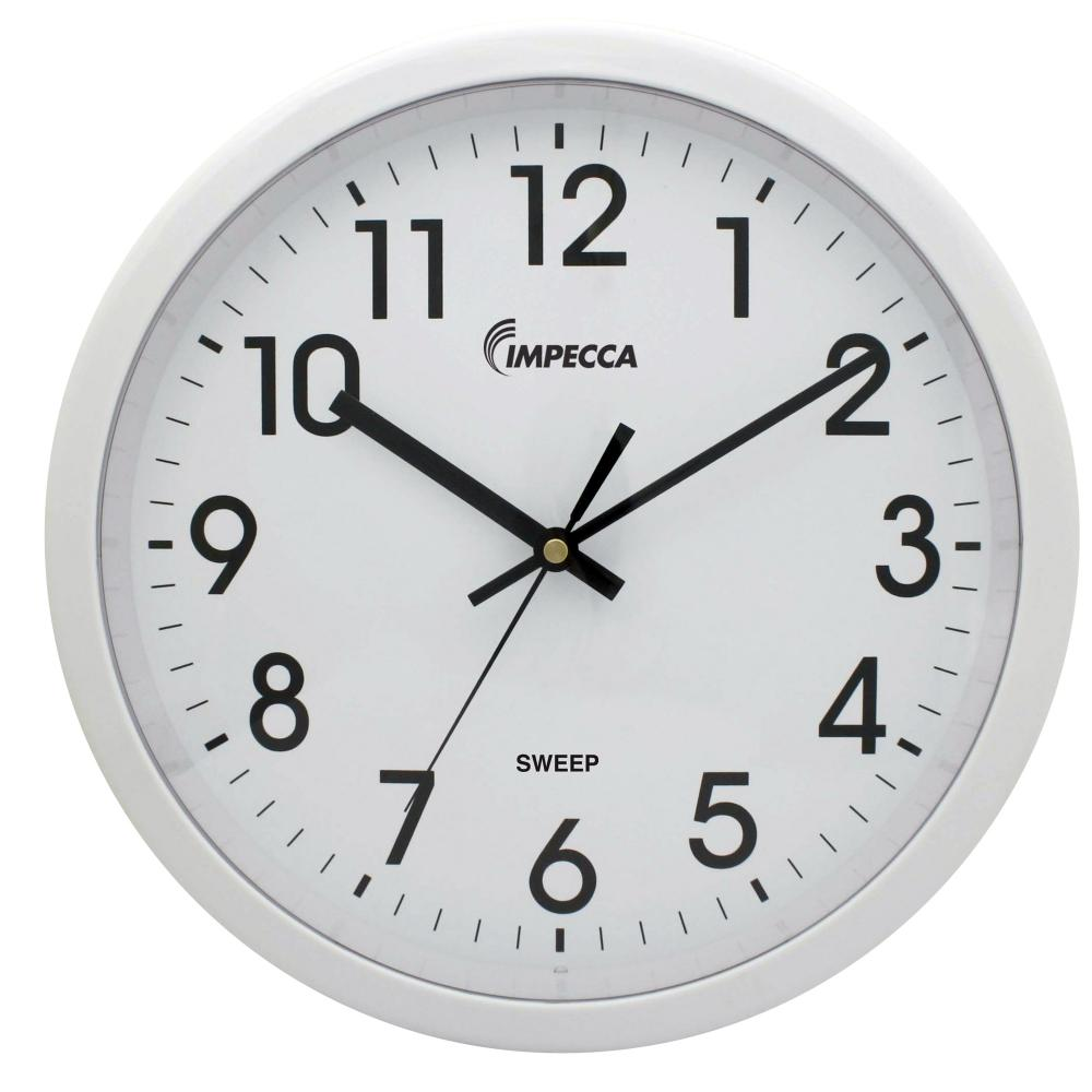 IMPECCA 12 Inch Quiet Movement Wall Clock - White