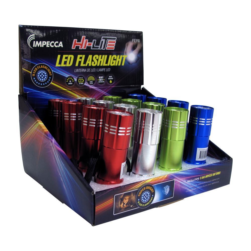 HI-LITE 9 LED FLASHLIGHT DISPLA BOX 16CT