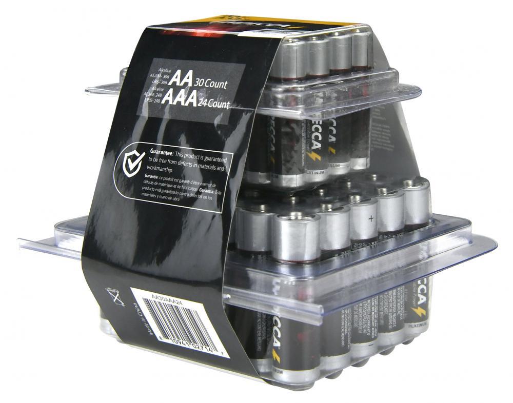 \LKALINE AA 30 AAA 24 PLASTIC BOX
