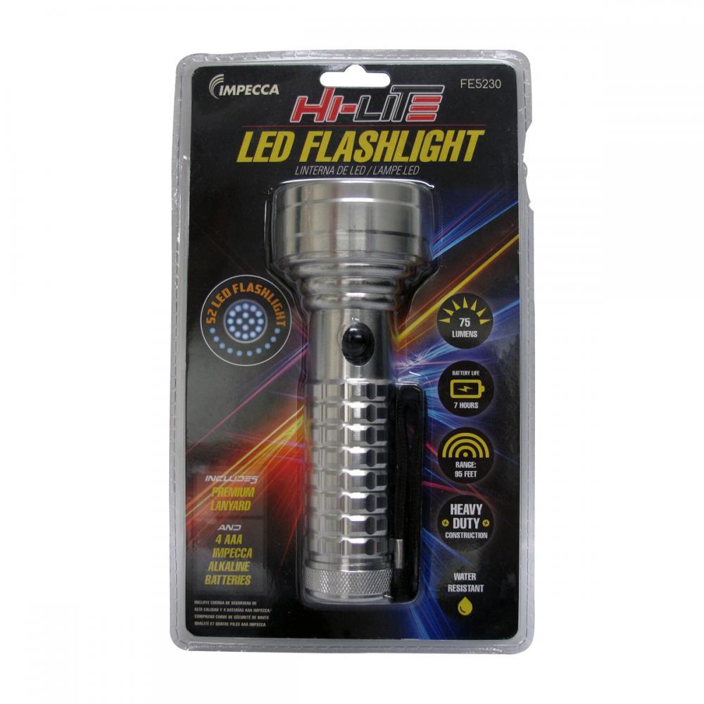 HI-LITE 52 LED FLASHLIGHT, SILVER