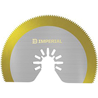 Imperial Blades IBOAT410-1 Round Segmented Oscillating Saw Blade, One-Fit, 3-1/8 in W, High Speed Steel, Titanium