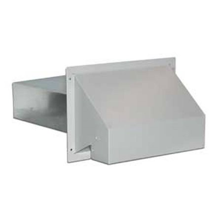 HOOD EXHAUST WHITE 3-1/4X10IN