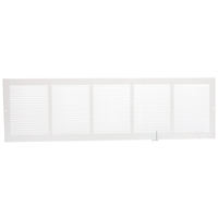 GRILLE SIDEWALL WHITE 30INX8IN