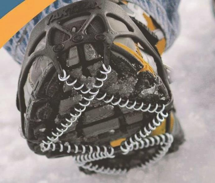 Yaktrax Pro Spikeless Over Boot/Shoe Traction Device, For Use With Men 14 in Size and Women 15-1/2 in Size, Black
