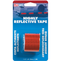 TAPE REFLECT RED ROLL1-1/2X4FT