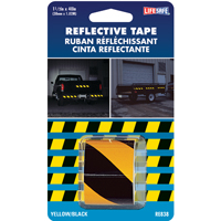 TAPE RFLCT YEL/BLK 1-1/2X40FT