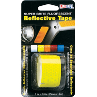 TAPE REFLECT LIME ROLL 1X24FT
