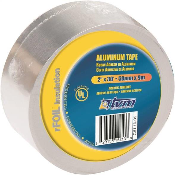 TVM IK00011 Foil Tape, 30 ft L X 2 in W X 0.003 in T