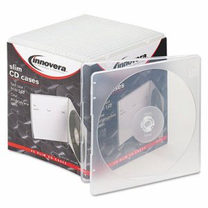 Slim CD Case, Clear, 25/Pack