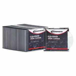 CD/DVD Polystyrene Thin Line Storage Case, Clear, 25/Pack