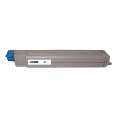 Remanufactured 42918903 (Type C7) Toner, 15000 Page-Yield, Cyan