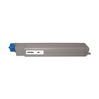 Remanufactured 42918904 (Type C7) Toner, 15000 Page-Yield, Black