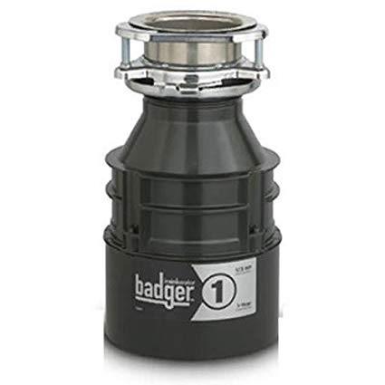 Badger 1 Garbage Disposal, 1/3 HP, 1-Year Warranty