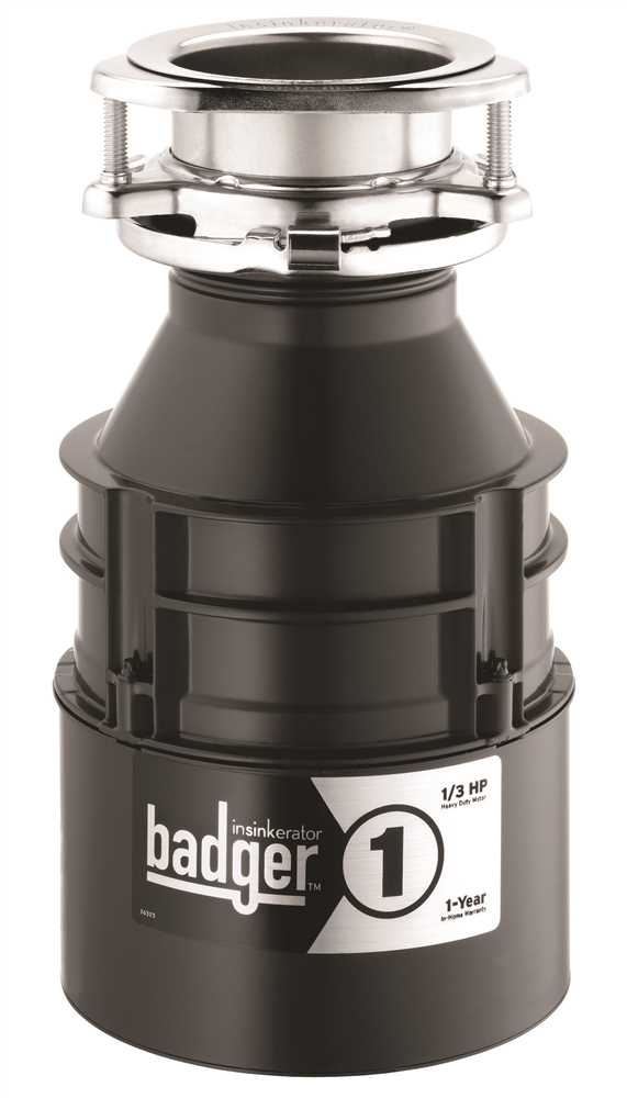 INSINKERATOR� BADGER� 1 GARBAGE DISPOSAL WITH POWER CORD, 1/3 HP