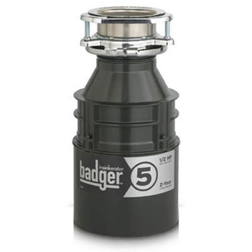 IN-SINK-ERATOR� BADGER� 5 GARBAGE DISPOSAL WITH POWER CORD, 1/2 HP