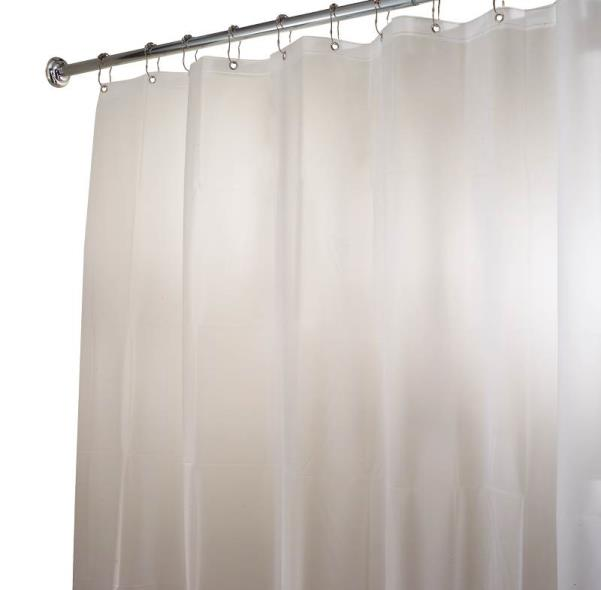 InterDesign 14752 Shower Curtain/Liner, 72 in W X 72 in L X 1/2 in T, EVA, White