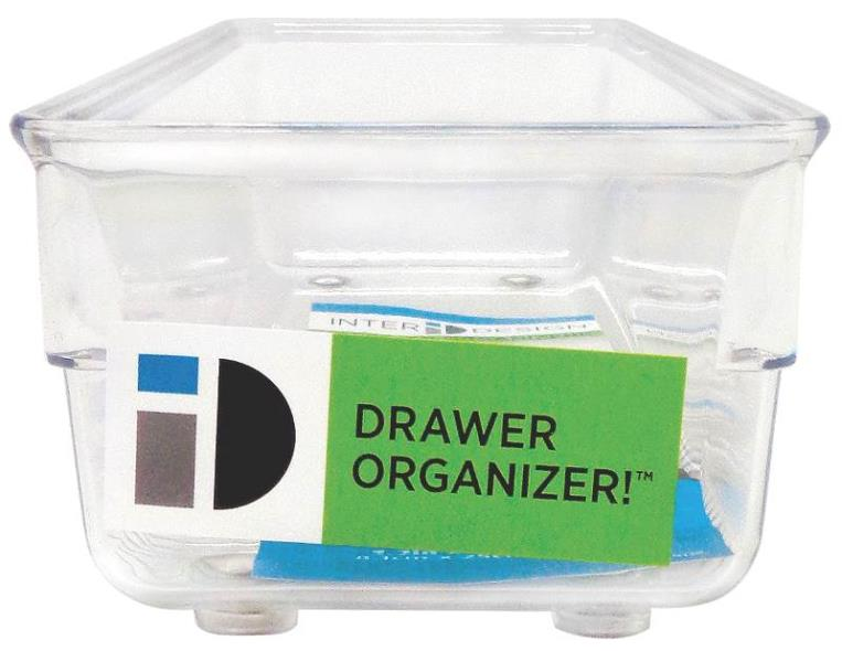 ORGANIZER DRAWER 3X9X2IN CLEAR