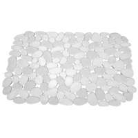 Inter-Design 60660 Large Textured Pebble Sink Mat, 12 in Length X 15-1/2 in Width, Plastic