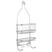 SHOWER CADDY 10X4X22IN SILVER