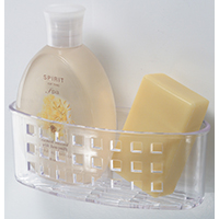 BATH CADDY PLASTIC CLEAR
