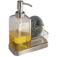 Forma 2 67080 Soap and Sponge Caddy, Stainless Steel