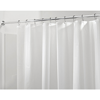 InterDesign 12052 Liner Shower Curtain, 72 in W x 72 in L x 0.1 in T, Polyster, Clear
